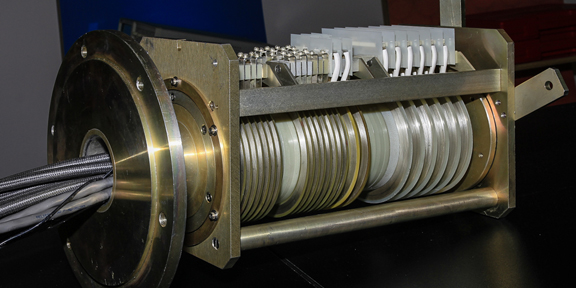 Slip ring cut out view